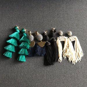 BAUBLEBAR Tassel Earrings (Set of 4)
